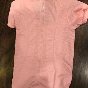 Lululemon peach/pink colored running top